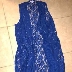 Medium lularoe blue lace joy